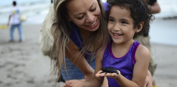 liberar tortugas durante las vacaciones con niños.jpg